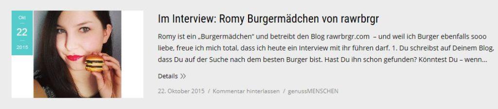 RAWR BRGR im Interview auf Genussverliebte.de