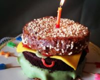 Recipe: Burger Birthdaycake