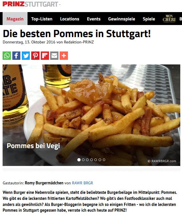 PRINZ Stuttgart Die besten Pommes in Stuttgart