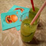 Grüne Gurken Basilikum Limonade