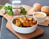Kartoffelwedges mit Feigen-Senf-Dip